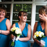 Bridesmaids getting emotional